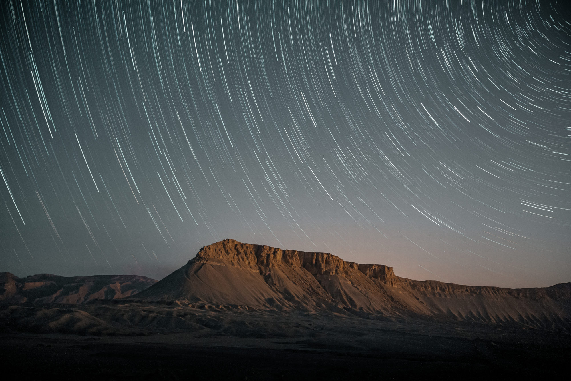 Photo étoiles circum polaire voie lactée